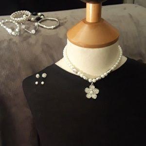 Bracelets, earrings, necklace bundle